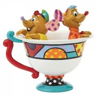 DISNEY ROMERO  BRITTO JAQ AND GUS IN A TEACUP FROM CINDERELLA GIFT BOXED 4044110
