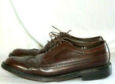 FLORSHEIM Men's SZ 8.5 D Kenmoor Brown Leather WINGTIP Oxford Dress Shoe