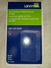 Leviton 30A Surface Mount Black 14-30R 3-Pole 4-Wire Dryer Power Outlet 55054