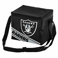 NFL Oakland Raiders Big Logo Striped 6 pack Cooler Lunch Box Bag Insulated