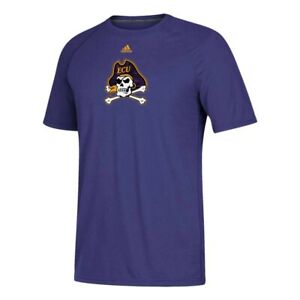 East Carolina Pirates NCAA Adidas Men's Purple Sideline Sequel Climalite T-Shirt