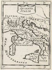 1683 Ancient Italy 17th Century Copper Plate Engraved Map Mallet