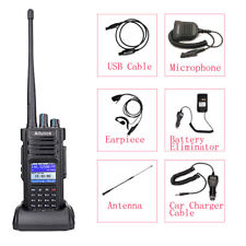 New DMR HD1 Dual Band UHF/VHF10W Transceivers 2-Way Radios+Accessories