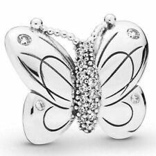 Genuine Pandora Sterling Silver Decorative Butterfly Charm - 797880CZ