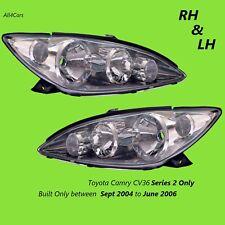 Toyota Camry CV36 Series 2 Head Lights CHROME Right Left Side 2004 2005 2006 New