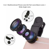 3 in 1 Wide Angle Macro Fish eye Lens Camera Kits Mobile smart Phone Lenses zoom