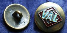 Vintage Bouton en laiton émaillé VAL