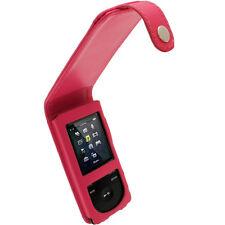 Pink Rosa Leder Tasche für Sony Walkman NWZ-E473 NWZ-E474 NWZ-E473K NWZ-E474B