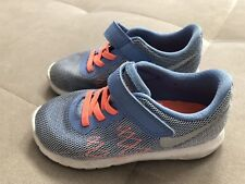 Nike Flex Shoes Sneakers Size 9 C Blue Orange Girls Athletic