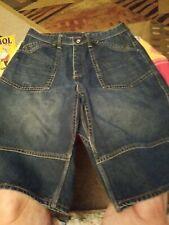 MENS EVISU Blue Jean Shorts  SIZE 36 Cargo