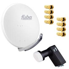 Fuba DAA 850 W SAT Anlage Set 85cm Alu Weiß Inverto Black LNB LNC Kopf HDTV 4K