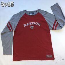 "Mens Reebok Long Sleeve Red Shirt 249/227602/Q3 Size M P-P20"" Length 26"""