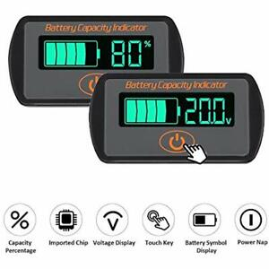 Icstation Battery Meter, Tester Percentage Indicator Lithium Lead Acid Level LCD