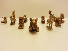 Brass Amulet Zodiac Lucky Animals Miniature Charm Figurines Star Vintage Collect