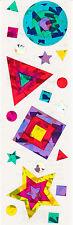 Mrs. Grossman's Stickers - Sparkle Shapes - Stars, Circles, Squares - 3 Strips