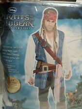 Pirates Of The Caribbean Captain Jack Sparrow  Halloween Costume #892