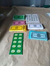 Deluxe Wheel of Fortune 25th Silver Edition-Parts- Replacement Money & free spin