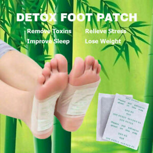 Detox Foot Pads Detoxify Patch Toxins Fit Health Care Pad Organic Herbal Cleanse