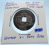 1875AD CHINESE Qing Dynasty Genuine Antique DE ZONG Cash Coin of CHINA i72231