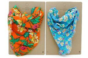 Zara Girls 2x Scarf For Girls Accessories Bandanna Bandana Flowers