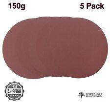 "12"" inch Sanding Disc, 150 grit, 5 Pack, Peel & Stick, High Quality AL Oxide"