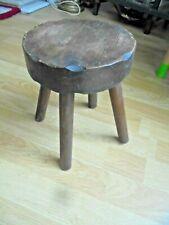 Vintage Wooden Milking Stool 4 Legs