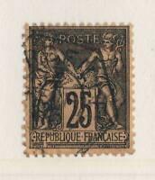 """FRANCE - 1895 N°97 variété CADRE BRISÉ SUR """"SAGE"""" - CAD type D RAU de MARSEILLE"""