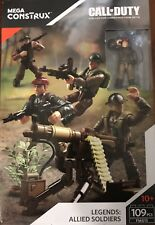 Call of Duty COD Mega Construx Set #FMG15 Legends: Allied Soldiers WWII