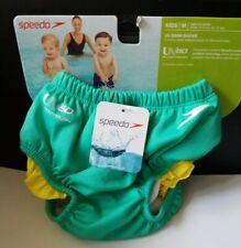 Speedo Girl Baby Newborn UV Swim Diaper Size M 12Mo Turquoise/Yellow New