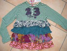 (851) Nolita Pocket Girls Materialmix Shirt mit Logo Stickerei & Volants gr.92