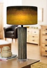 68cm Grande Scuro Bamboo Lampada da tavolo in legno con stampa giclee paralume ARTE Sole Sfumati