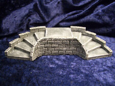 Dual Curved Staircase Thomarillion Unpainted Ceramic Dwarven Forge D&D