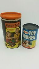 Vintage Lincoln Logs 1969 & Tinkertoy Toy Maker 1970 Toy Building Set *RARE*