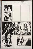 Siege Young Avengers #1 p7 original comic book art page Mahmud A Asrar Marvel 11