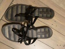 Grendha Toe Thing Sandals 5 Black