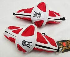 New Brine King Iv Red/White Large Lacrosse Protective Arm Guard Pads