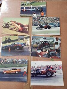 Vintage NHRA drag racing photos jungle Jim, wild Willie Borsch etc.