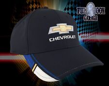 NEW Chevrolet Racing Black White Blue Chevy Mens Adjustable Cap Hat