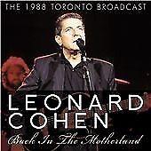 Leonard Cohen : Back In The Motherland - 1998 TORONTO - NEW & FACTORY SEALED CD