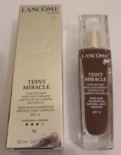 2 x Lancome Teint Miracle Bare Skin Foundation, SPF15, 15 Acajou