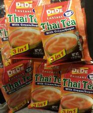 DeDe INSTANT THAI TEA Drink with Cream Sugar 6 PACKETS X 35GRAMS EACH