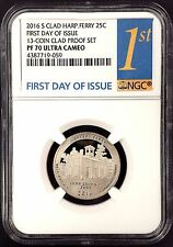 2016 S Proof Harpers Ferry Quarter, NGC PF 70 Ultra Cameo, First Day of Issue!