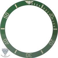 Green White Ceramic Bezel Insert For Rolex Submariner Watches