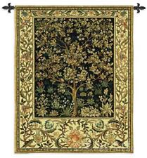 42x53 TREE OF LIFE Midnight Blue William Morris Fine Art Tapestry Wall Hanging