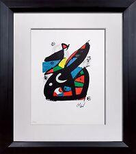Joan MIRO SIGNED Lithograph Original HAND Number Ltd. ED +Cat. Ref. c48 +FRAMING