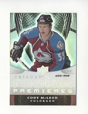 2008-09 Upper Deck Trilogy #151 Cody McLeod RC Rookie Avalanche /999