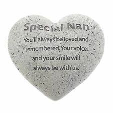 Memorial Stone For Special Nan Graveside and Garden Heart Shaped Tribute