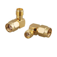 2-Pack SMA Female to RP-SMA Male Right Angle Connector Adapter for WiFi Antenna
