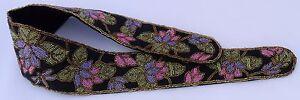 "Hand Beaded  Lotus Pastel Flower Indonesian Wrap Wide Small 34"" High Waist Belt"