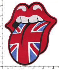 10 Pcs Big Embroidered Sew or Iron on patches Rolling Stones UK Flag AP056aG